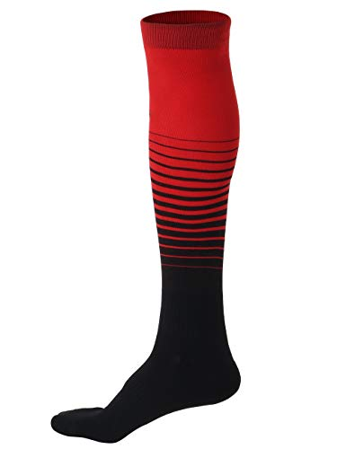 Never Lose Professional Series Soccer Stockings (Black,Red, L)