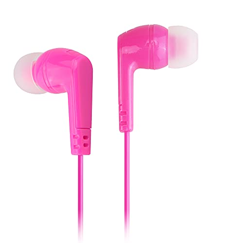 Ilikable Earbuds in Ear Headphones Noise Isolating Earphones Tangle Free 3.5mm Wired Earbuds for iOS and Android Smartphones, Laptops, MP3 Couple Headphones Ergonomic Stereo in-Ear Headphone -Pink