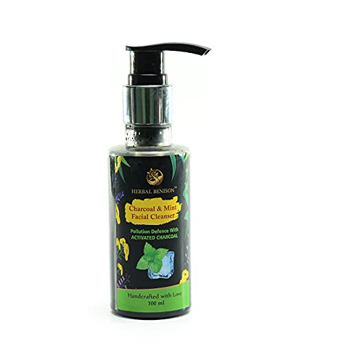 Herbal Benison Skincare India Charcoal & Mint Facial Cleanser