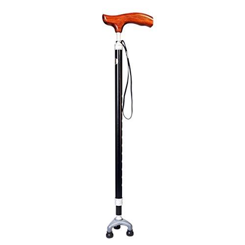 YDS Shop wandelstok Light Cane met ergonomisch houten handvat Cane 10 in hoogte verstelbaar Geschikt voor mannelijke of vrouwelijke artritis ouderen, gehandicapte en ouderen, kane 3 benen antislip