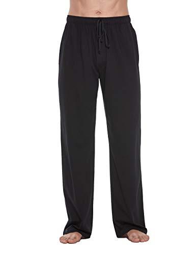 CYZ Cotton Knit Pajama Lounge Sleep Pants-Black-M