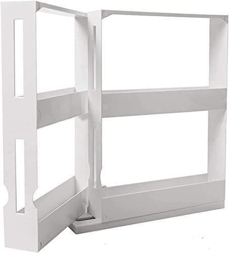 JYDNBGLS Organizador de especias de 2 niveles, organizador de gabinetes de cocina, almacenamiento de especias de plástico para condimentos, especias y mejoras para el hogar