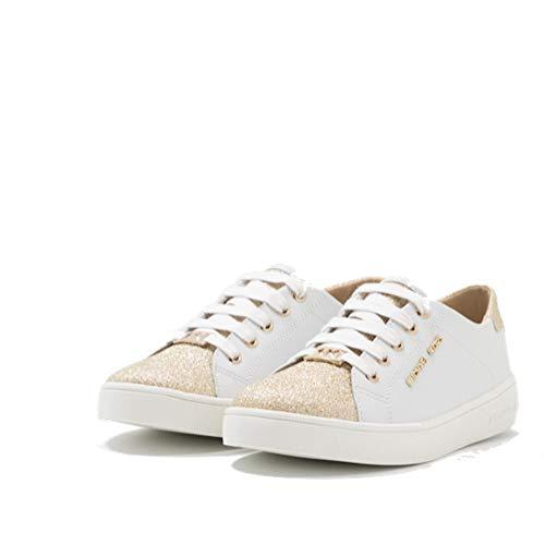 Michael Kors Mädchen Sneaker Low Turnschuhe Kinder Schuhe ZIA-JEM AWE Weiss/Gold (Numeric_36)