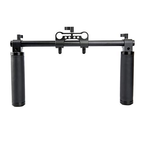 NICEYRIG Lens Handle Kit with 15mm Rod Clamp, 12'' Long Rod for Video Camera Shoulder Rig Support System