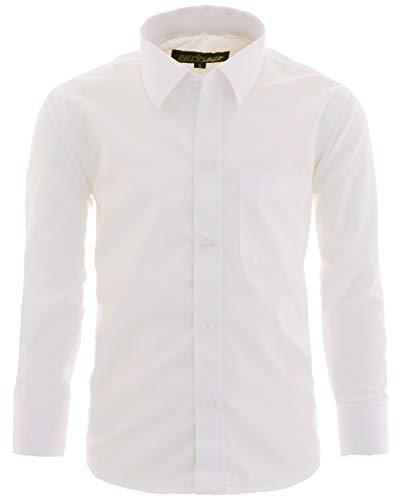 GILLSONZ A1vDa Kinder Party Hemd Freizeit Hemd bügelleicht Lange Arm, Creme, 146/152 (Herstellergröße: 14)