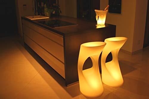 FURSTAR LED Lounge Leuchtmöbel Moon Barhocker, Hochstuhl, Barstuhl, Leuchtsitz