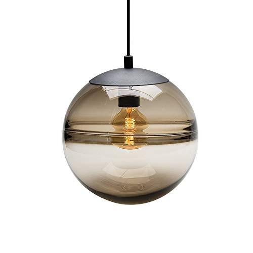 LHTCZZB Lámpara de bola Ajustable Colgante Alambre de alambrón Hierro + Material de vidrio Ahorro de energía Bulbo LED Equipo de iluminación Adecuado for techo Sala de estar Mesa de comedor Lámparas d