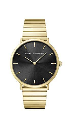 Rebecca Minkoff Women's Quartz Watch with Stainless Steel Strap, Gold, 20 (Model: 2200006)