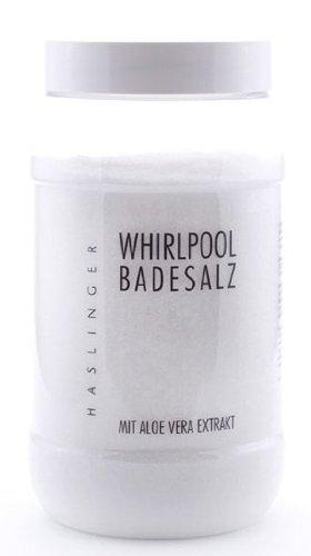 Lashuma Whirlpool Badesalz Aloe Vera mit Aloe Vera Extrakt, Sprudelbad Zusatz 1000 g