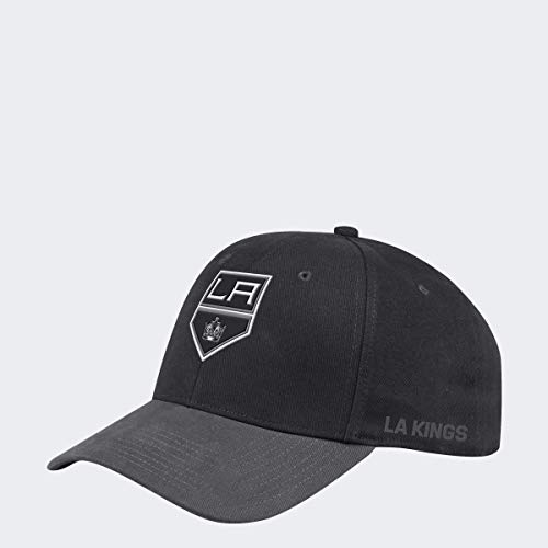 adidas Los Angeles Kings 2019/20 NHL Coach Flex Fit NHL Cap, S/M