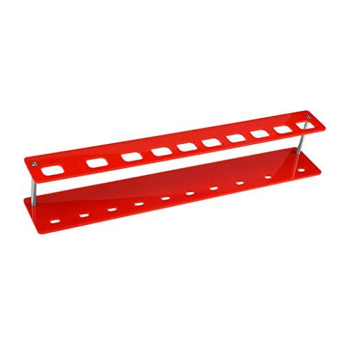 Toygogo 10 Löcher Make Up Pinsel Bleistift Stift Display Ständer Rack Organizer Halter - rot, 33,5 x 5,7 x 1 cm