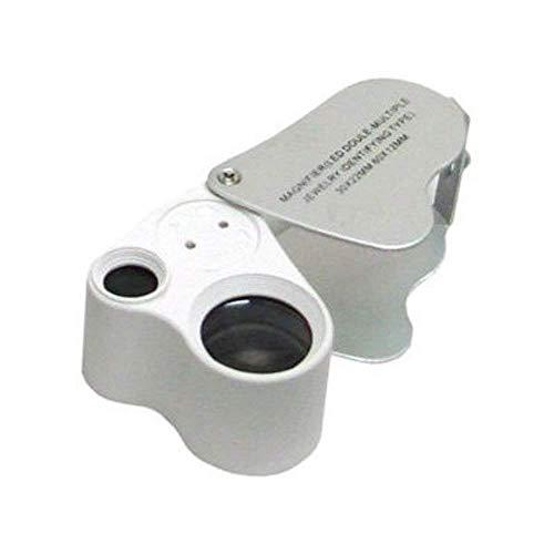 Ogquaton - Lupa de cristal HD (30 x y 60 x, luz LED, resistente y práctica