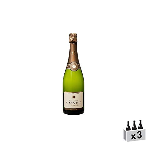 Champagne Réserve Brut - Champagne Philippe Gonet - Rebsorte Pinot Noir, Chardonnay, Pinot Meunier - 3x75cl