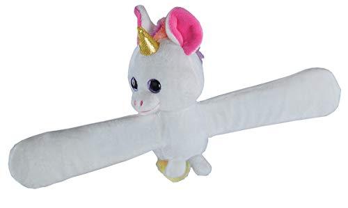 Wild Republic Scented Huggs Unicorn Plush Toy, Slap Bracelet, Stuffed Animal, Kids Toys, Watermelon, 8