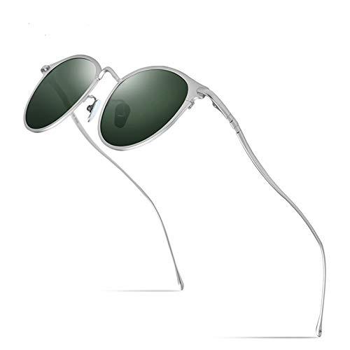Diseño moderno Gafas de sol de titanio puro Hombres Vintage