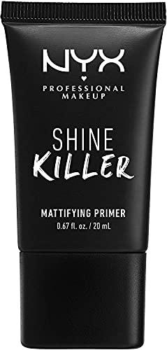 NYX Professional Makeup Prebase matificante Shine Killer Primer, Polvo de carbón matificante, Fórmula vegana, 20 ml