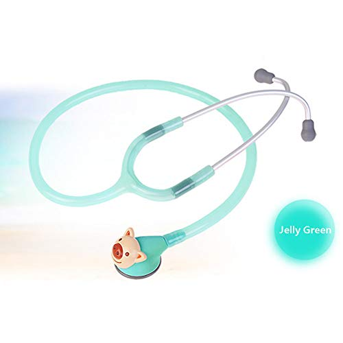 Cheapest Prices! BIUYYY Pediatric Stethoscope, Animal Head Single Head Stethoscope Cute with 6 Repla...