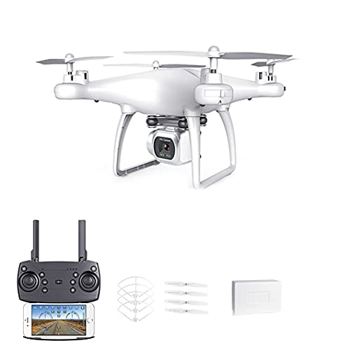 JJDSN Drone con Trasmissione 4K WiFi 5G e Fotocamera Singola, Adatto per Bambini e Adulti, quadricottero con Telecomando, Rotazione Automatica, Foto di Follow-up