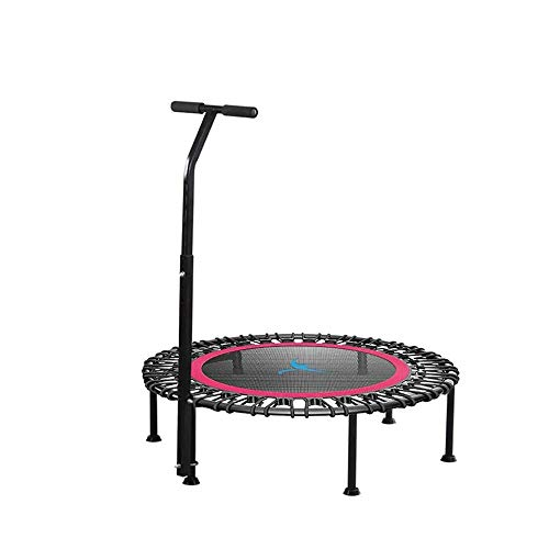 LKNJLL 40' Silent Mini Trampoline Fitness Trampoline Bungee Rebounder Jumping Cardio Trainer Workout for Adults - Max Limit 330 Lbs