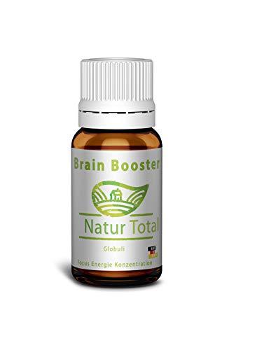 Brain Booster Konzentration Globuli - Energie Schulstress Focus Lern Booster - Nootropic Boost Leistungssteigerung durch natürliche Globuli - Hergestellt in Deutschland