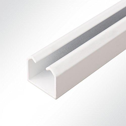 LYSEL Laufschiene Alu weiß 35x30mm bis 100 Kg Schiebetor Schiebetür Hallentor 3 Meter