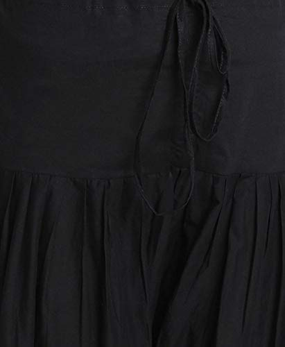 SRISHTI By FBB Women's Cotton Salwar (Black, Medium)