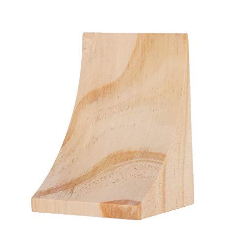 OIHODFHB Decoración de escritorio de madera simple ornamento oído pendientes joyería soporte de exhibición
