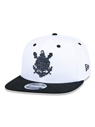 BONE 9FIFTY ORIGINAL FIT ABA RETA AJUSTAVEL CORINTHIANS FUTEBOL ABA RETA SNAPBACK BRANCO NEW ERA