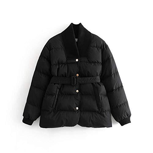 NSWTKL Denim Jacket Winterjas Parka Vrouwen Riem Plus Size Vrouwen Parka Lange Mouw Down Jacket Vrouwelijke Katoen Dames Winterjassen Warm Bovenkleding