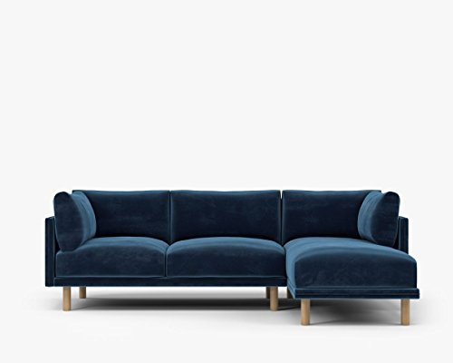 Kure Anderson Sectional-Right Hand Facing, RHF, Cobalt