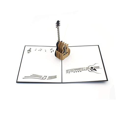 Vektenxi Weihnachts-Gitarren-Entwurfs-Einladungs-Gruß-Karte der Musik-3D