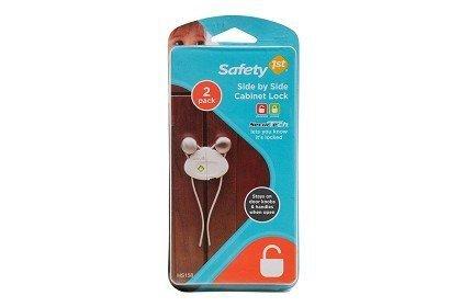 Safety 1st Side by Side Cabinet Lock – 2 paquets de 2 fils = 4 fils par Safety 1st