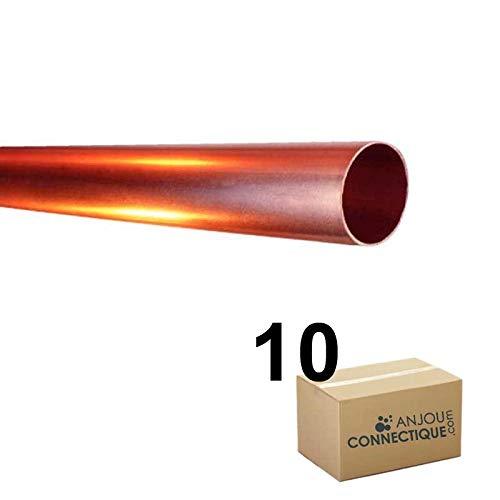 - Tube cuivre - Lot de 10 Tubes cuivre écroui Ø10x12 - barre de 4m