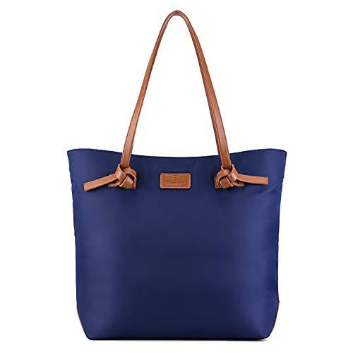 Plambag - Borsa a tracolla da donna, impermeabile, con tracolla regolabile e rimovibile, per lavoro, shopping, Blu (blu navy), Large