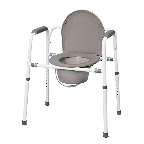 MedPro Homecare Commode Chair is a close second in our list of bedside commodes with large opening