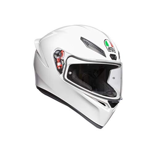 AGV K1 Mono ECE2222, Casco Moto Uomo, Bianco, L
