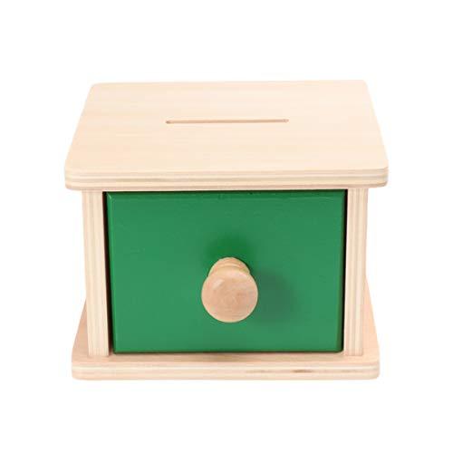 TOYANDONA 1 Pieza Montessori Caja de Monedas Infantil para Niños Juguetes Educativos para Niños Pequeños Ejercicio Juguetes de Coordinación Ojo-Mano