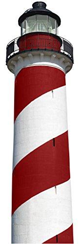Décoration adhésive Grand format 3XL 803927 Autocollant Adhésif, Polyvinyle, Rouge Et Blanc, 50 x 0,1 x 171,5 cm