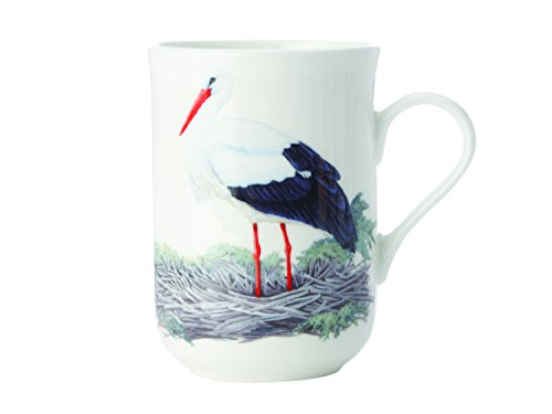 Maxwell & Williams Birds of The World Storch, Geschenkbox, Porzellan, PBW1090 Becher, schwarz, weiß, 10.5 x 7.5 x 10.5 cm