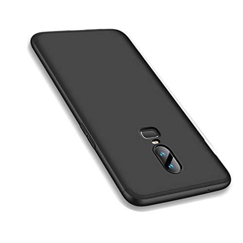 OnePlus 6 Hülle, Ultra Dünn 3 in 1 Schutzhülle 360 Grad Komplettschutz Case, Anti-Slip, Kratzer Hart PC Skin Rückdeckel Schutzhülle für One Plus 6 (OnePlus 6, Schwarz)