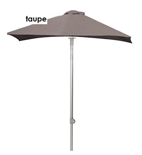 Jan kurtz parasol 2 x 2 m taupe aluminium avec articulé elba