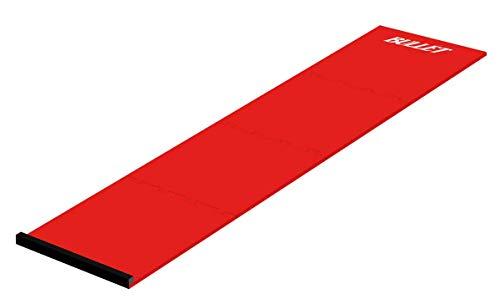 BULLET-Darts 4 teilige Dartmatte aus Eva zum Schutz für den Fußboden mit Oche - 237cm, Farbe: Rot