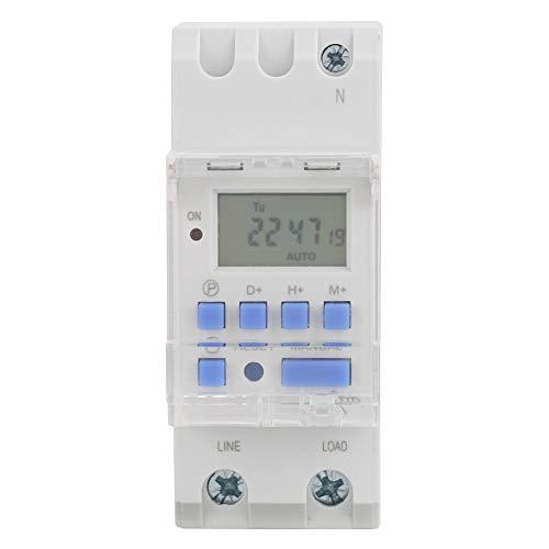 TM615 AC 220V Digital LCD Potencia programable Interruptor de temporización Relé 16A Amp para controles de iluminación