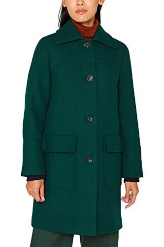 ESPRIT Damen 099EE1G039s Mantel, Grün (Bottle Green 385), Medium (Herstellergröße: M)