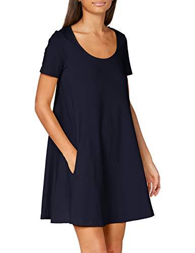 United Colors of Benetton Damen Vestito Kleid, Blau (Blu 016), Medium