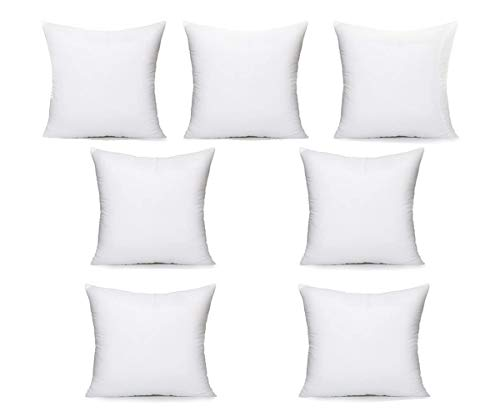 Iyan Soft Furnishing Set of 7 65cm x 65cm Cushion Pad Stuffer Pillow - Cushion Inserts Square Polyester Hollowfibre - 26 x 26 Inch MADE IN UK (Pack of 7)