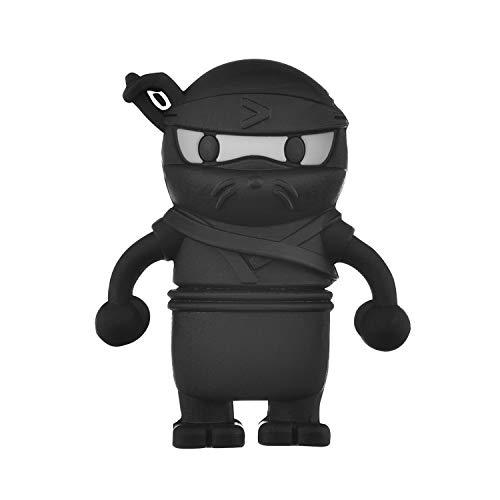 Clé USB 32 Go Ninja Noir USB 2.0 Personnalisée Mignon Clé USB Originale Fantaisie Stockage Mémoire Stylo Silicone Bon Cadeau pour Enfants et Amis - (32GB)