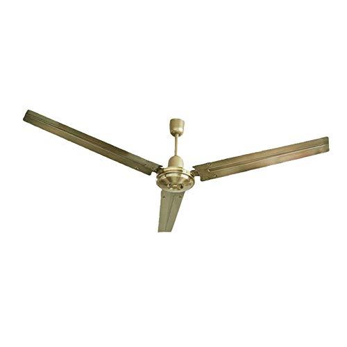 Ventilador de techo silencioso de 56 pulgadas, ventilador de techo de metal, aspa de ventilador de metal de 3 aspas, ajustable de 3 velocidades, control remoto, motor de cobre puro/B/Los 140