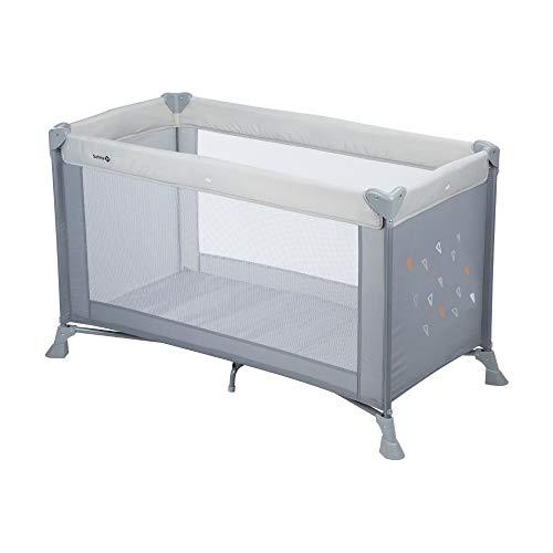 Safety 1st Soft Dreams Cuna de viaje plegable y portátil, adecuada para viajar, para bebés y niños 0 meses - 3 años, plegado compacto con bolsa de transporte, color Warm grey