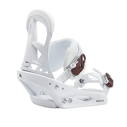 Burton Stiletto Snowboard Bindings Womens Sz M (6-8) White